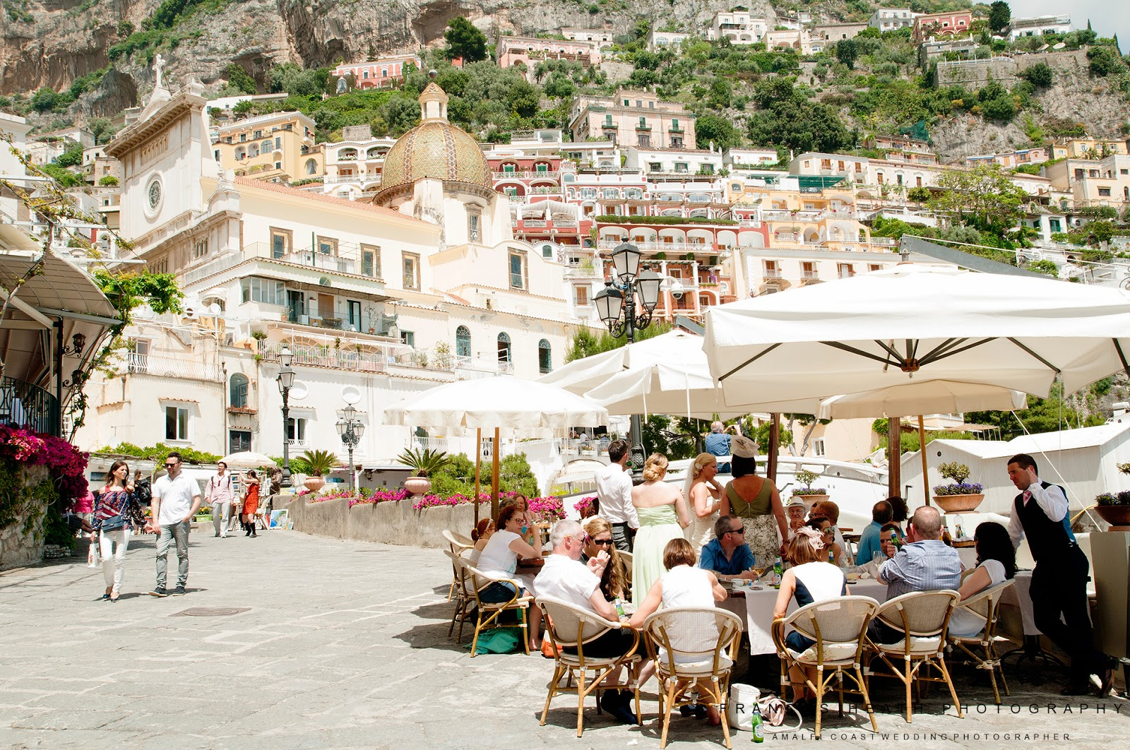Wedding reception at Hotel Covo Dei Saraceni in Positano