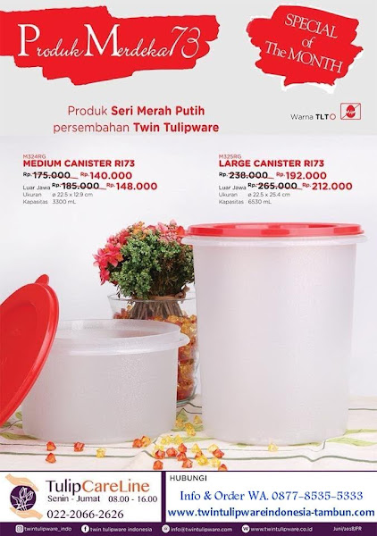 Promo Harga Spesial Juli 2018, Medium Canister, Large Canister
