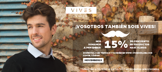 Descuento Movember VIVES Shoes