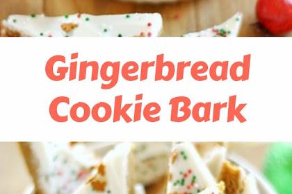Gingerbread Cookie Bark #christmas #cookies