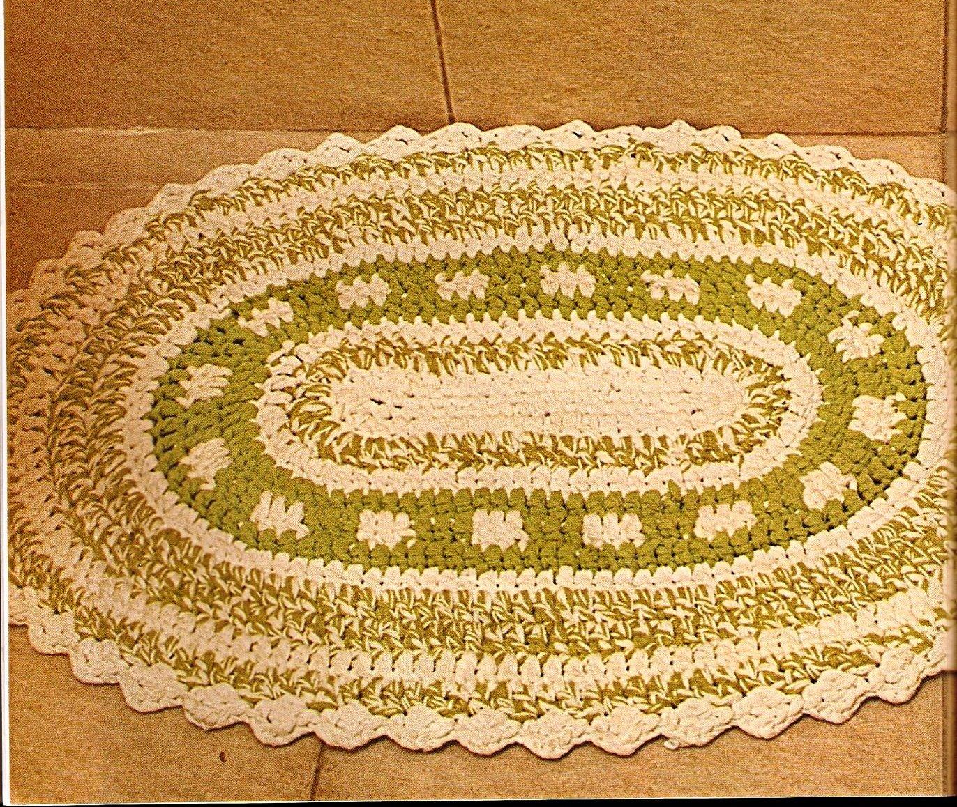 Tresp craft blog patr n alfombra y cesto de crochet para - Cesto de trapillo para el bano ...