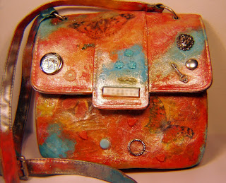 Mixed Media Manic Altered Arty Handbags Collaged Amp Painted