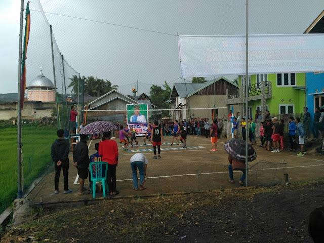 Pemuda Desa Talang Lindung Gelar Turnamen Volly Ball Zainal Abidin Cup