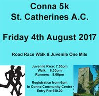 5k race in Conna in NE Cork...Fri 4th Aug 2017