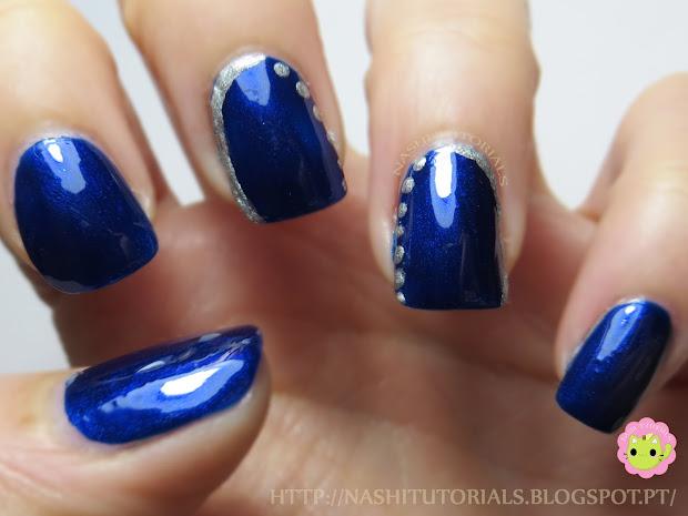 nashi tutorials blue and metallic