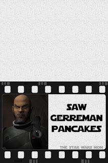 Star Wars Rebels Saw Gerrera German Pancakes Free Printable Food Label