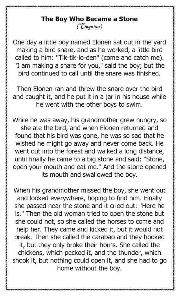 Kisah Cerita Anak Jadi Batu