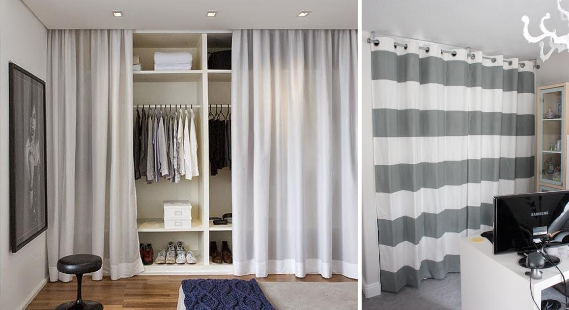 Decoraci n f cil armarios lowcost con cortinas - Como decorar un armario ...