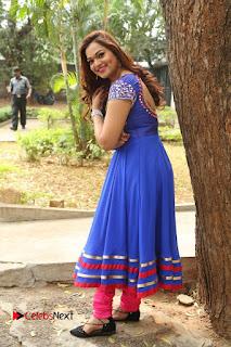 Actress Ashwini Stills in Blue Chudidar at Ameerpet Lo Release Press Meet  0212.JPG