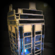 Stained Glass Tardis Candle Holder