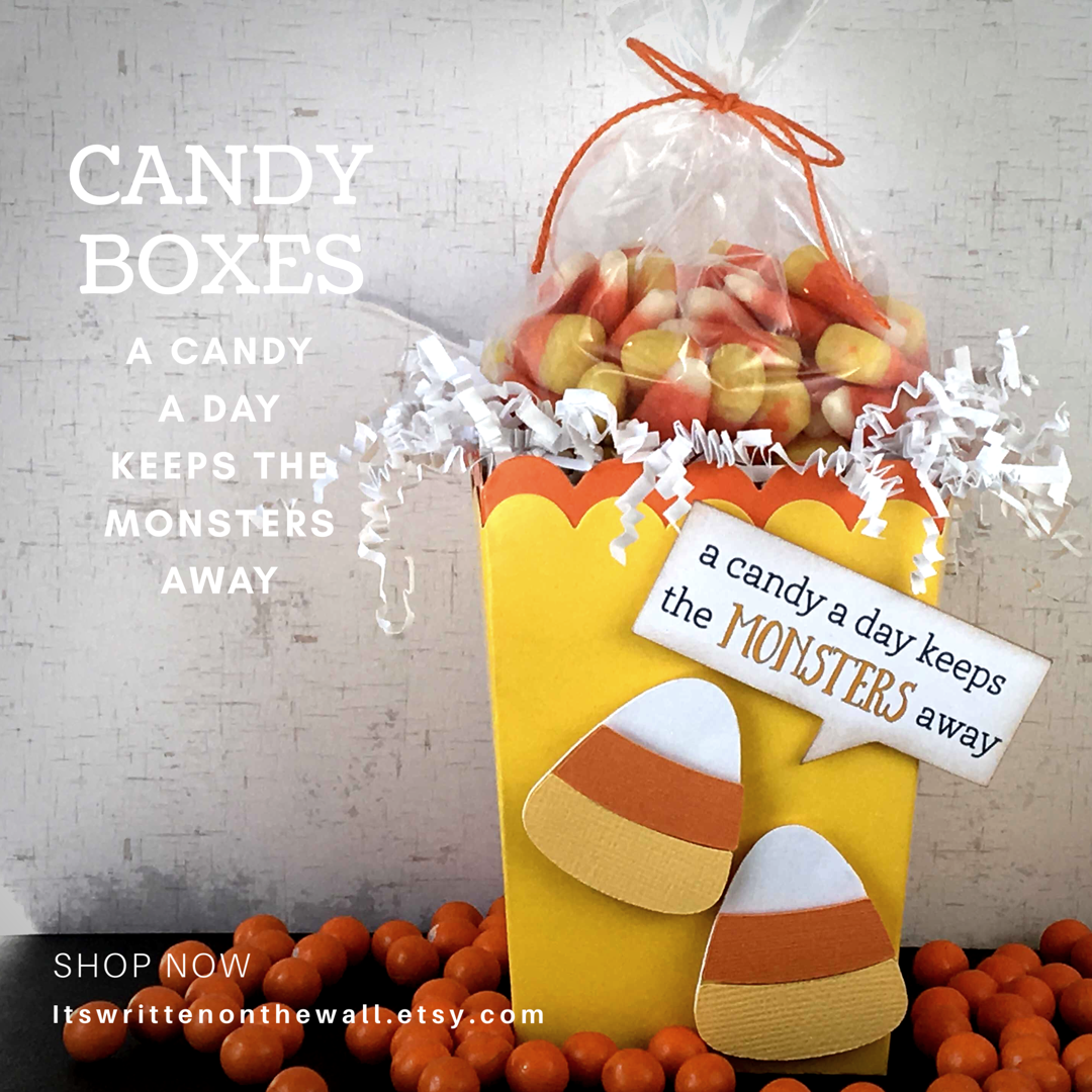 Halloween Treat Boxes All Dressed Up As A Candy Corn Gotta See Candy Cookies Chocolate And More