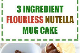 3 Ingredient Flourless Nutella Mug Cake