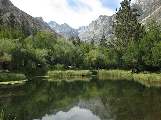 Trout pond near site of Glacier Lodge near Big Pine, California