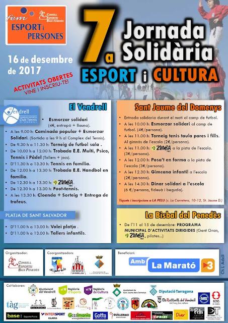 Esguard de Dona - 7a Jornada Esport i Solidaritat - 16 de desembre 2017 - El Vendrell - Sant Jaume dels Domenys - La Bisbal del Penedès - Acte per La Marató de TV3