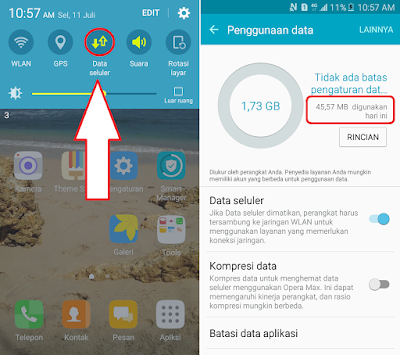 Cara Cek Penggunaan Kuota Internet Di Hp Samsung
