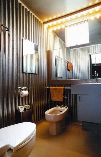 Bringing the gold to your household corrugated metal on - Using corrugated metal for interior walls ...