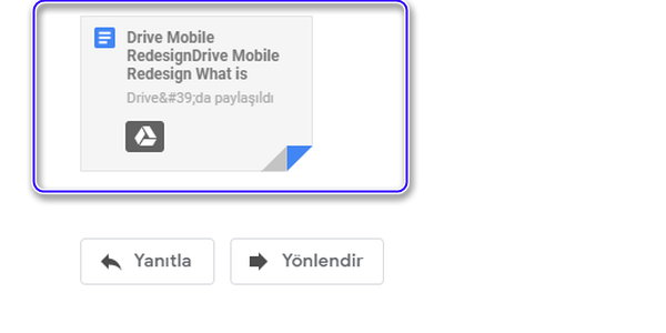 Makalemize devam ediyoruz. Google Gmail ek dosyamızı açalım.