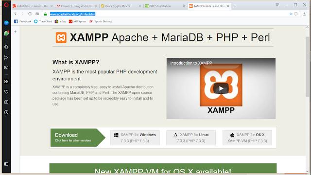 Set up PHP laravel Framework (step by step installation on windows pc).