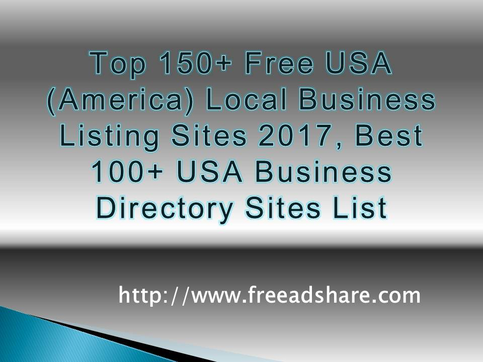 Top 150+ Free USA Business Listing Sites | 100+ Best USA Business