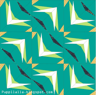 Static Interference, Puppilalla, Blog Hop, Katarina Rocella, Blithe Fabrics, Foundation Paper Piecing, Free Quilt Block, Original Design