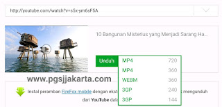 Download video you tube menggunakan id.savefrom.net