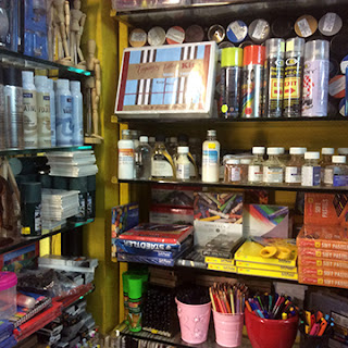 Art station at four bunglows, Andheri west, shop for all Indian and imported art materials here