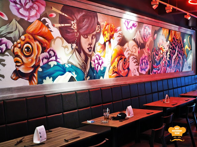 KOUZU Bangsar Bar Grafitti and Manga Wall Art