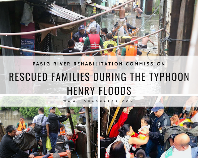 The Pasig River Rehabilitation Commission (PRRC) Rescued Families During the Typhoon Henry Floods