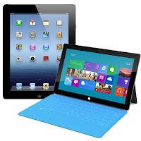 Microsoft Surface vs Nouvel iPad 3
