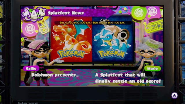 Splatoon Splatfest News Pokémon Red version Blue introduction North America