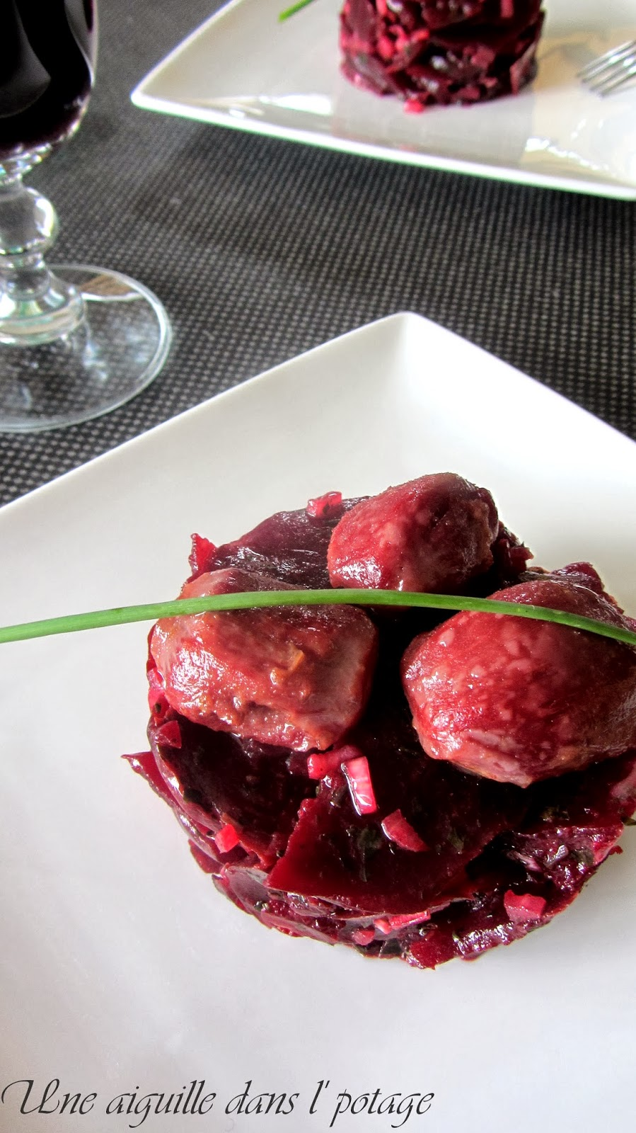 Beet salad with candied gizzards