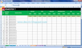 Input Nilai Raport aplikasi skhu sementara