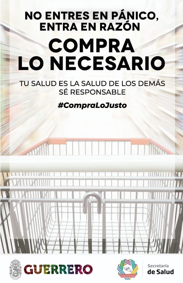 Llama gobierno de Guerrero a comprar sólo lo justo