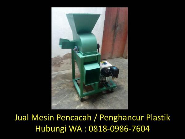 mesin cacah plastik sederhana di bandung