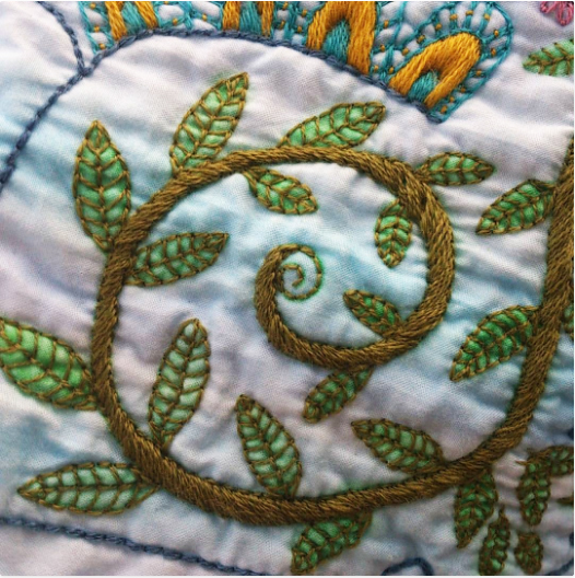 Embroidered Hare by Quilt Routes