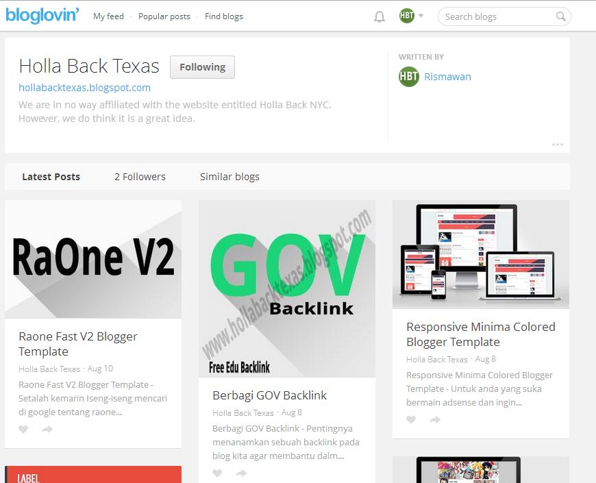 sitemap bloglovin