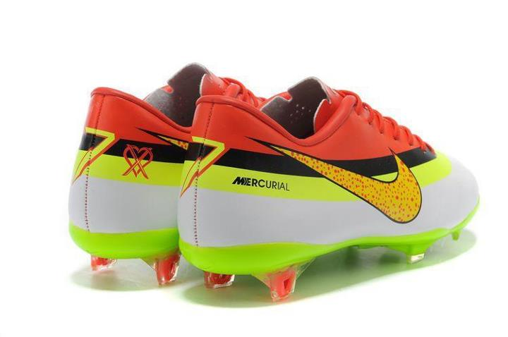 a1fb1d29b Nike Mercurial Vapor VIII CR FG - White Yellow Black Red. 2012 2013  Cristiano Ronaldo Dos Santos Aviero Boots with Real Madrid Pictures from  Nike