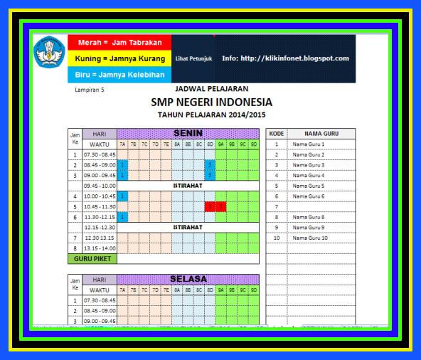 Aplikasi Jadwal Pelajaran SD SMP SMA Terbaru Versi 2018