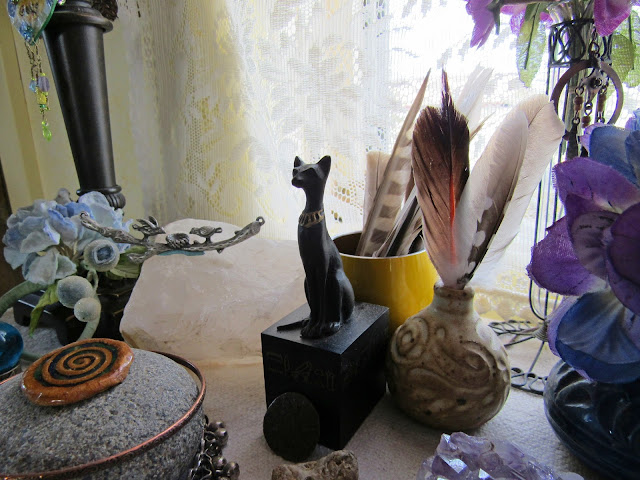 Statue of Bastet, Egyptian goddess of cats, joy, protection, dance, love, and music