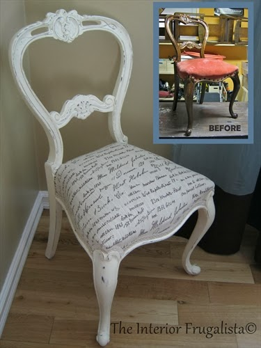 Balloon back chair received a complete makeover inside and out