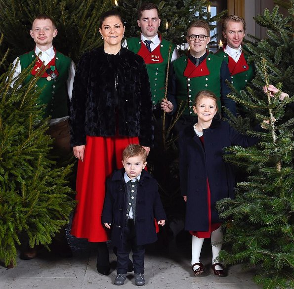 Crown Princess Victoria wore By Malina Ester Rabbit Fur Coat, Princess Estelle coat, Prince Oscar