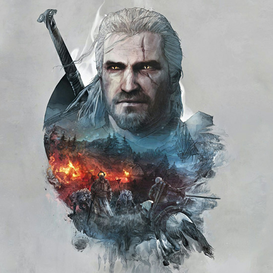 Geralt Of Rivia / Steelbook Art Wallpaper Engine