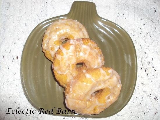 pumpkin donuts, glazed buttermilk donuts