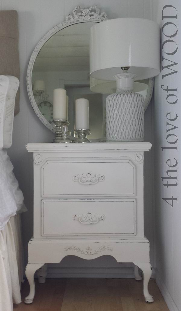4 the love of wood: ASCP WHITE NIGHTSTANDS - large bedside ...