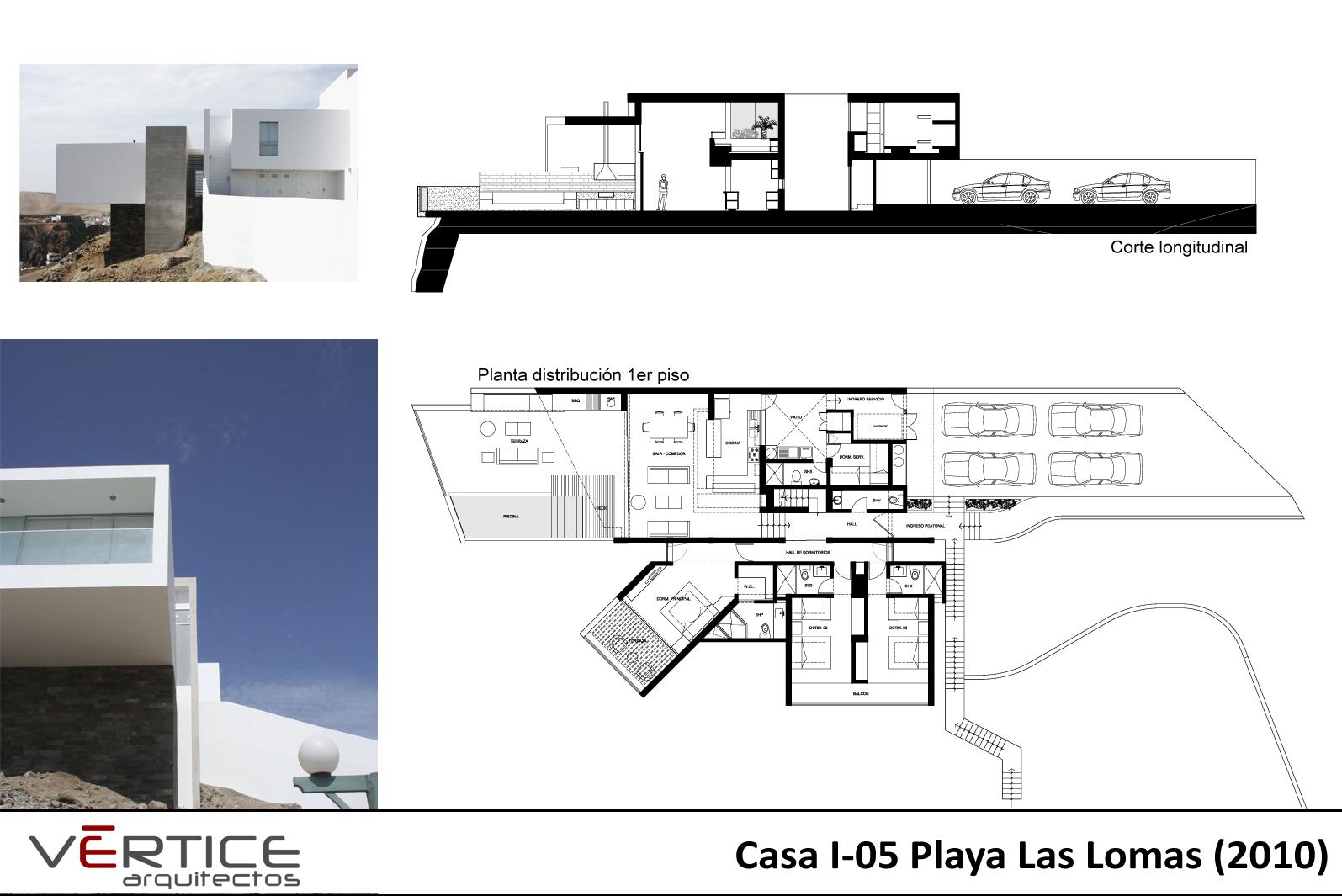 arquitectura arquidea casa minimalista en playa las lomas