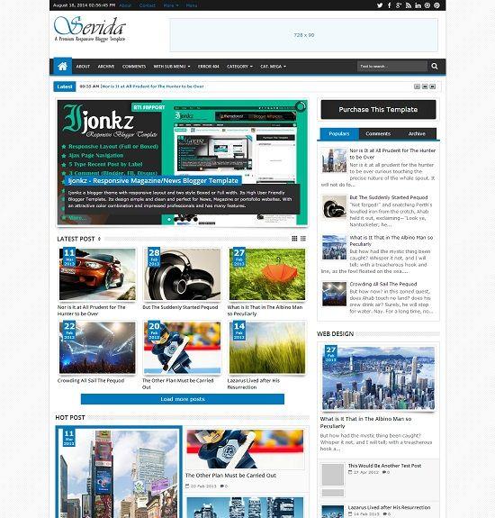 Chia sẻ 2 Theme blogger, blogspot tuyệt đẹp, chuẩn seo, pagespeed và responsive mobile 2016
