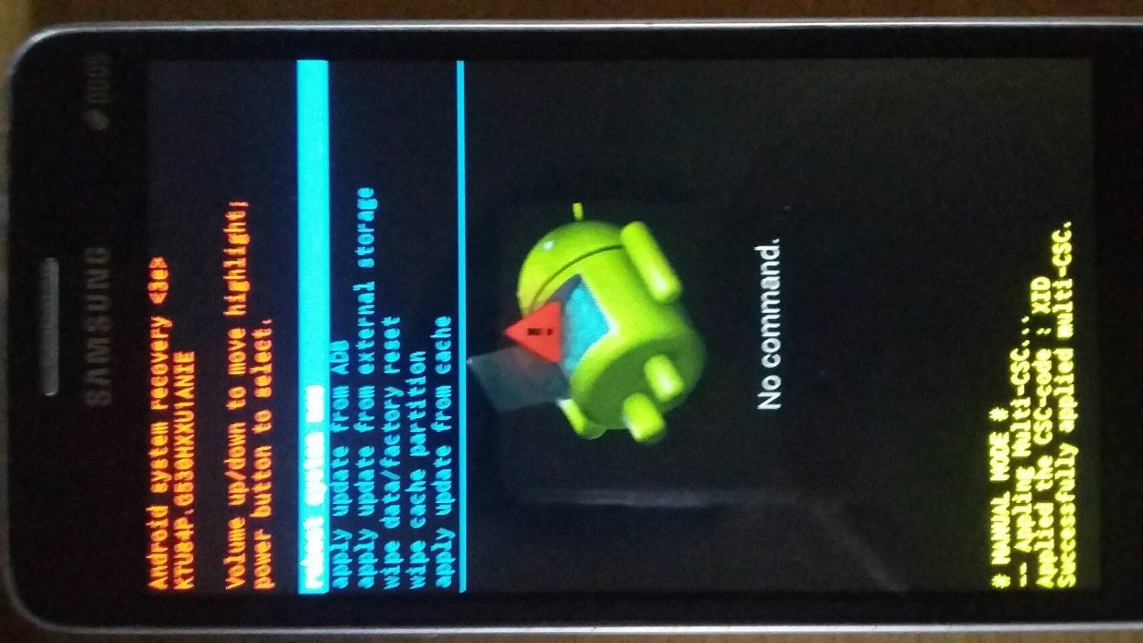 cara keluar dari android system recovery