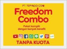 PT-TOPINDO.COM - Paket Data Indosat Freedom Combo Termurah dari Topindo Solusi Komunika dengan kuota lebih besar sepanjang hari. Masa aktif paket Indosat Freedom Combo mengikuti masa aktif kartu indosat anda.
