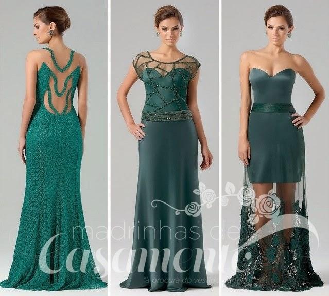 0f35306758a13 Hoje vou postar apenas os vestidos longos verdes e ao longo da semana  preparo um post com outros vestidos. Como podem ver são opções para  madrinhas
