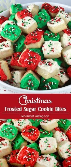 Christmas Sugar Cookie Bites